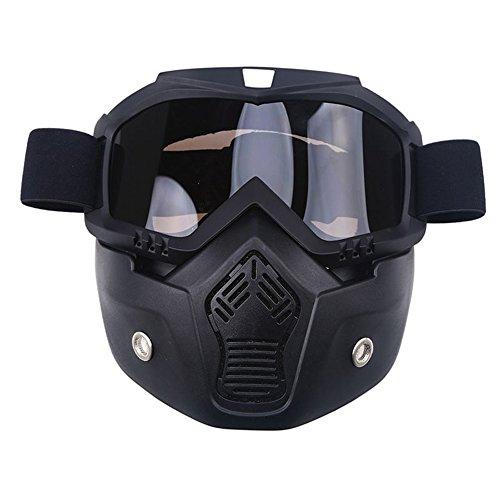 AchidistviQ Anti UV-Schnee Winter Sport Snowboard Ski Goggle Maske Helm Eyewear Sonnenbrille grau