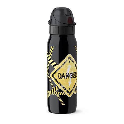 Emsa Iso2Go 518376 Isolierte Trinkflasche, 0,5 Liter, AutoClose Verschluss, Danger
