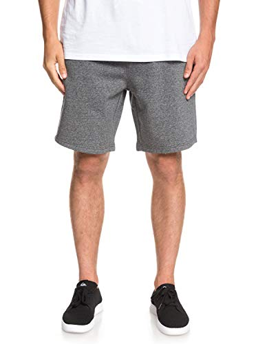 Quiksilver Herren Everyday Track Short Fleece Bottom, Dark Grey Heather, L -