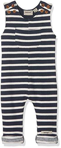 PAPFAR Unisex Baby Striped Sweat Latzhose, Gots-Zertifiziert Mehrfarbig (Nature Melange 409), 98 (Herstellergröße: 3Y)