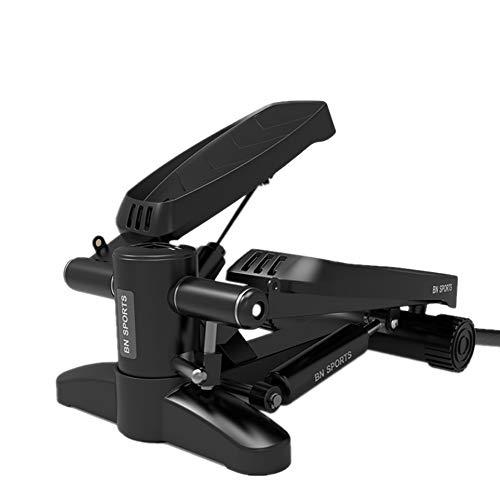 Wanlianer Aufrechtes Fahrrad Mini Stepper Fitness Übung Bein Oberschenkel Anpassung Übung Fitness Stair Arm Seil Trainingsmaschine Schwarz Heimtrainer (Farbe : Schwarz)