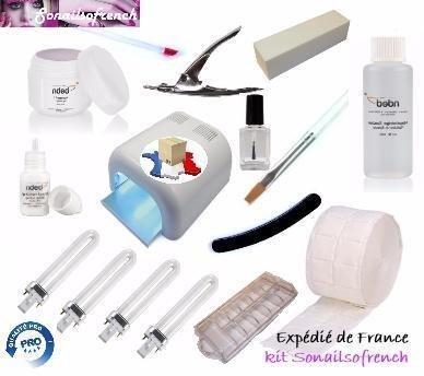 Kit faux ongles gel uv discount (avec lampe UV) monophase
