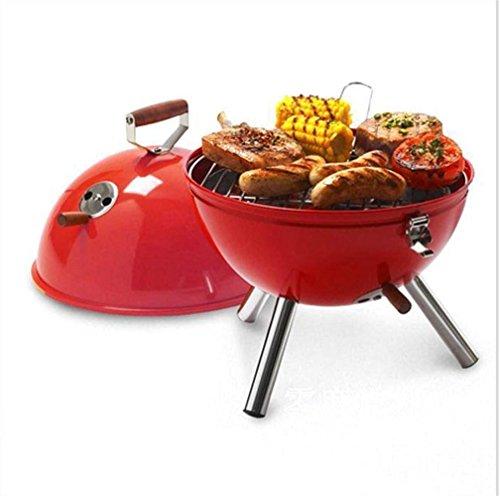 XW Grill Außen tragbar, Grill höhenverstellbar, Grill zu drei Etagen