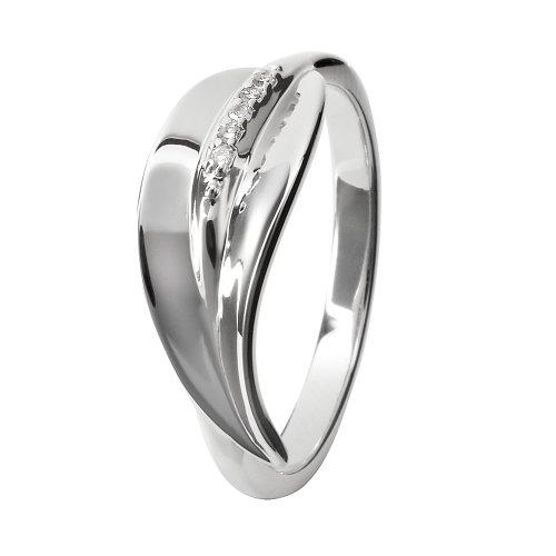Hot Diamonds DR079/K - Anillo de mujer de plata de ley con 1 diamante (talla: 10)