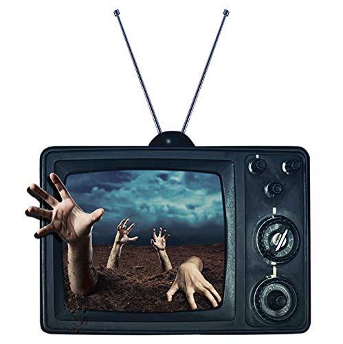 hfwh Wandaufkleber, Gefälschte Tv Grab, Halloween-Dekoration, 3D, Wasserdicht, Abnehmbar, 60x90cm
