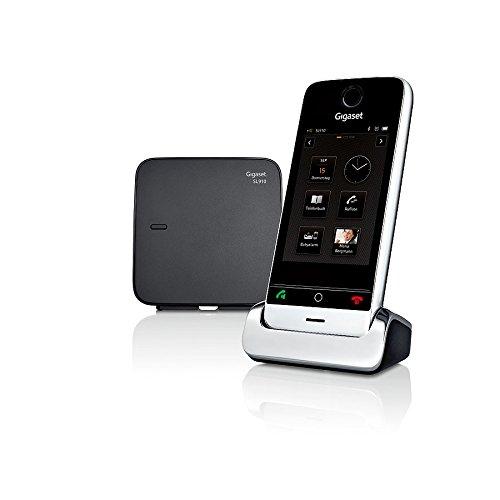 Gigaset SL910 Telefon - Schnurlostelefon / Mobilteil - mit Farbdisplay / Design Telefon / schnurloses Telefon - Freisprechen - schwarz - 20