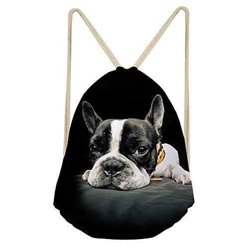 von Jungen, Mädchen Rucksack Schulranzen Schulter Rucksack Umhängetasche mit Alarm, damen, S-Z2365Z3, boston terrier, S - Personalisierte Boston Bag