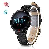 Smartwatch mit Pulsmesser, GOKOO Fitness Armband Wasserdicht IP67 Fitness Tracker Aktivitätstracker Pulsuhren mit 4 Trainingsmodi Kalorienzähler Schlafmonitor für Damen Herren für IOS Android (Black)