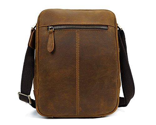 Easy Go Shopping Bandolera Crossbody para hombre Retro The First Layer Of Leather Bolsa para cuero...