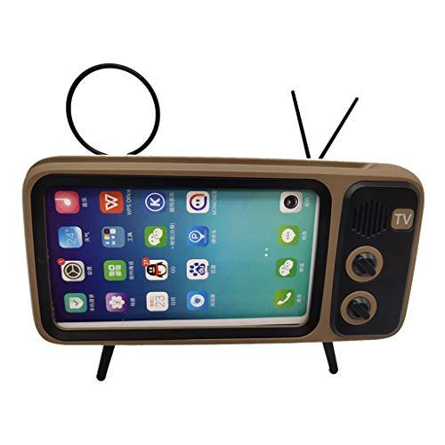 Oasics Drahtloser Bluetooth-Lautsprecher mit mobilem TV-Rahmen Tragbarer drahtloser Lautsprecher Smartphone-Freisprecheinrichtung für Apple Samsung Huawei Bluetooth-Lautsprecher (Gold)