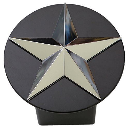 Texas Lone Star 3d Chrome Emblem Trailer Metal Hitch Cover Fits 2 Receivers by LFPartS - Cover Receiver Hitch