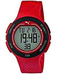 Puma Time Herren-Armbanduhr PU-Touch- red black Digital Quarz Kautschuk PU911211002