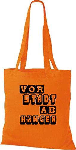 Shirtstown Stoffbeutel lustige Sprüche Vorstadt Abhänger viele Farben orange