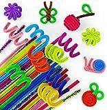 ARTEZA Pfeifenreiniger   650 Stück Chenilledraht   6mm x 30,5cm   Pfeifenputzer in 100 Bunten Farben und 10 Glitzerfarben   DIY Pfeifenreiniger-Set   Ideal zum Basteln und Dekorieren