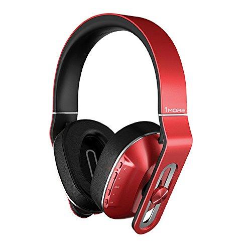 1MORE MK802 Bluetooth Kopfhörer 4.1 aptX Stereo Kabellos Headset Over-Ear mit Mikrofon,3-Stufen-Bass,für TV Smartphone Tablet Laptop PC (Rot)