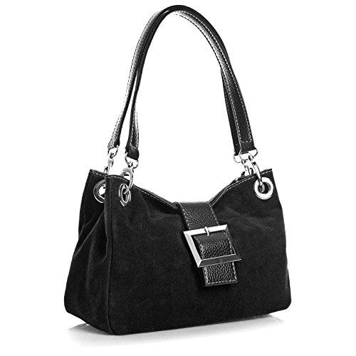 aossta-real-italian-suede-leather-bag-women-shoulder-handbags-black