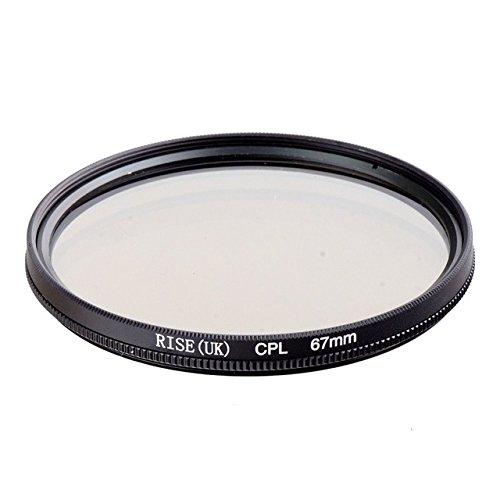 CPL 67mm Polarisationsfilter CPL für Ziel von 67mm Durchmesser für alle Marken Canon Nikon Sony Pentax Fuji Olympus Leica Panasonic Sigma Tamron Minolta Zeiss Tokina Kodak Rodenstock SLR DSLR–adaptout Französische Marke