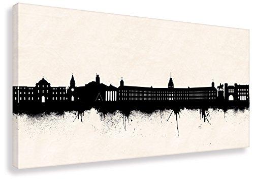 Kunstbruder Wandbild - Skyline Karlsruhe SW (Div. Größen) - Leinwandbild Kunstdruck Streetart Like Banksy Geschenk-Idee Loungebild Bürobild (40x80cm)