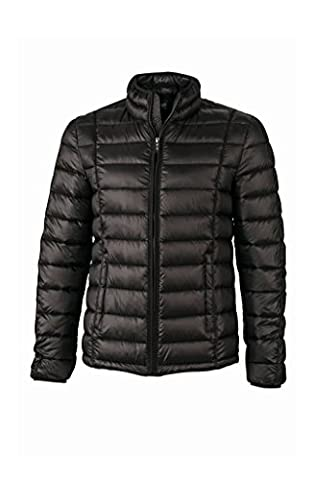 Men's Quilted Down Jacket in black/black Size: 3XL
