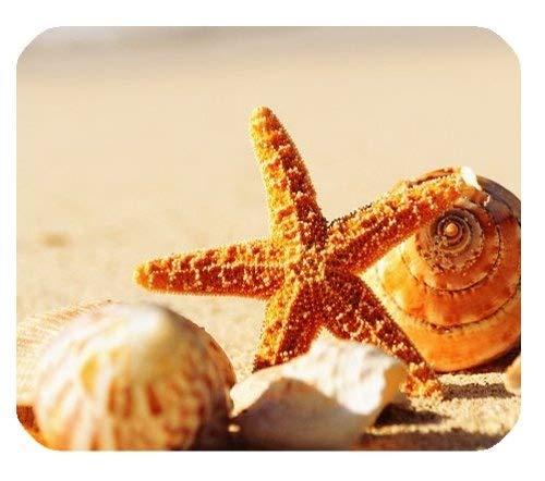 Oberteile und Starfish auf der Strand-Sand-Sommerferien-Gewohnheits-Mausunterlage