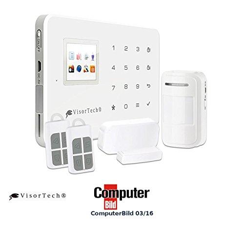 VisorTech GSM Alarm: GSM-Alarmanlage mit Funk- & Handynetz-Anbindung XMD-4400.pro (Hausalarm)