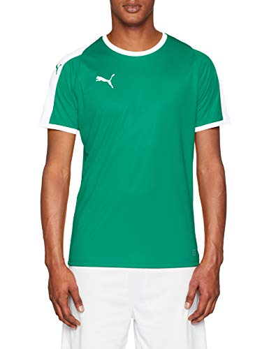 L/s Spieler (Puma Herren Liga Jersey T-Shirt, Pepper Green White, L)