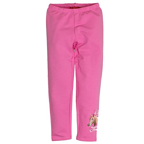 SALT AND PEPPER Mädchen Legging Horses Print, Rosa (Bubblegum Melange 833), 116
