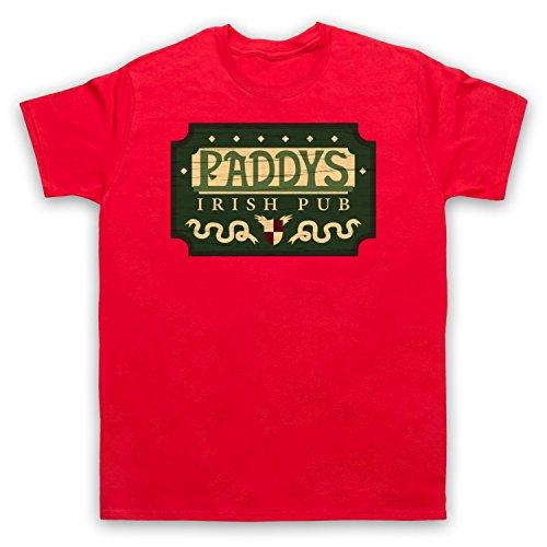Inspiriert durch It's Always Sunny In Philadelphia Paddys Irish Pub Sign Unofficial Herren T-Shirt Rot