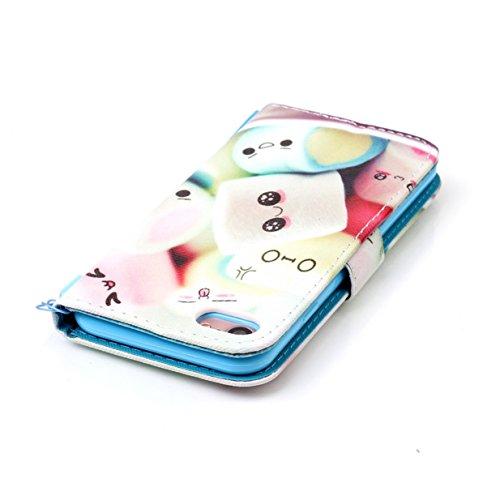 Coque pour Apple iPhone 7 / iPhone 8 WYSTORE Coloré Motif PU Cuir portefeuille Housse Etui pour iPhone 8/7 (Ecran: 4,7 pouces) Case Coque Protection avec Béquille Flip Cover avec carte de crédit Slots A04