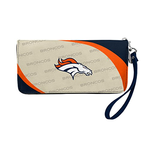 Littlearth NFL Curve Zip Organizer Wallet, Damen, Curve Zip Organizer Wallet, Navy, 8