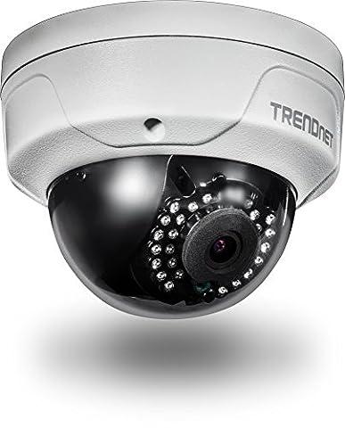 TRENDnet Indoor/Outdoor 4 Megapixel HD PoE IR Dome Tag/Nacht Netwerk Kamera, Digital WDR, 2688 x 1520p, IK10 Vandalismusschutz, IP66 zertifiziertes Gehäuse, 30 Meter Nachtsicht, ONVIF, IPv6, TV-IP315PI