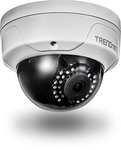 TRENDnet Indoor/Outdoor 4 Megapixel HD PoE IR Dome Tag/Nacht Netwerk Kamera, Digital WDR, 2688 x 1520p, IK10 Vandalismusschutz, IP66 zertifiziertes Gehäuse, 30 Meter Nachtsicht, ONVIF, IPv6, - Video Professional Kamera Digital