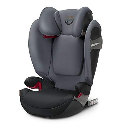 Cybex - Silla de coche grupo 2/3 Solution S-fix, para coches con y sin ISOFIX, 15-36kg, desde los 3 hasta los 12 años aprox., Pepper Black