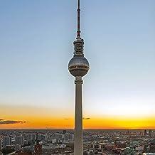 Berlín - Torre De La Televisión, Fernsehturm Cuadro, Lienzo Montado Sobre Bastidor (70 x 70cm)
