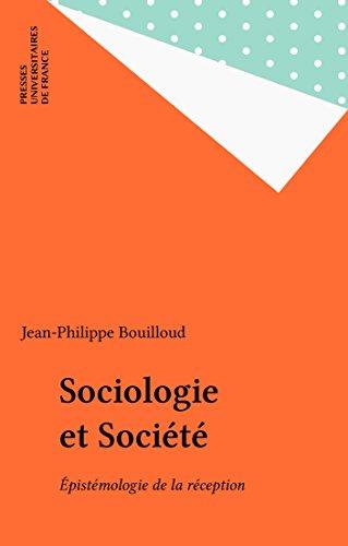 Sociologie et Société: Épistémologie de la réception