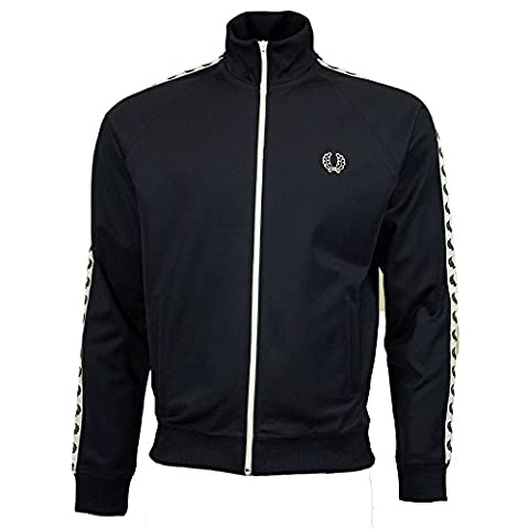 Fred Perry Men's Taped Track Jacket XL Carbon Blue