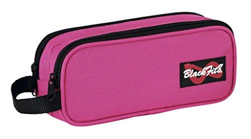 BlackFit8 Double Federtasche Federmappe, pink, 21 x 8 x 6 cm