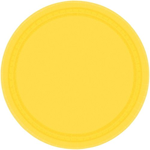 amscan-international-228-cm-paper-plates-sunshine-yellow-pack-of-8