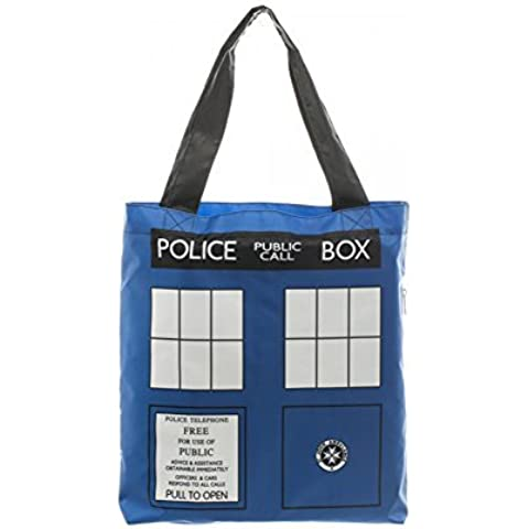 Doctor Who Tardis Packable Tote Bag by Dr.Who