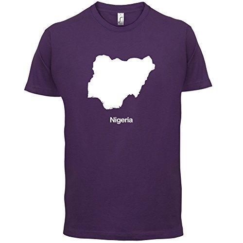 Nigeria / Bundesrepublik Nigeria Silhouette - Herren T-Shirt - 13 Farben Lila