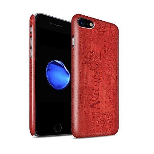 STUFF4 Glanz Snap-On Hülle / Case für Apple iPhone 8 / Orange / Blau Muster / Muster Natur Kollektion Rot
