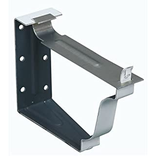 Amerimax Home Products 25022 Snap Lok Fascia Bracket, White Aluminum, 5In., 2Pc. Quantity 50