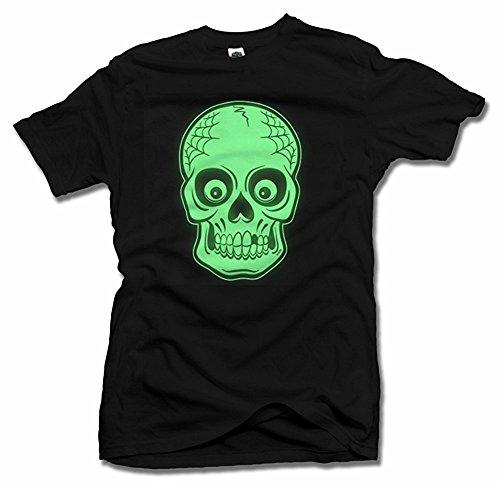 AM T-Shirts Playera para Hombre con Calavera Oscura Que Brilla en...