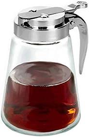 Glass Bottle Syrup Dispenser Maple Simple Honey Pitcher Thunder Group 12 Ounce