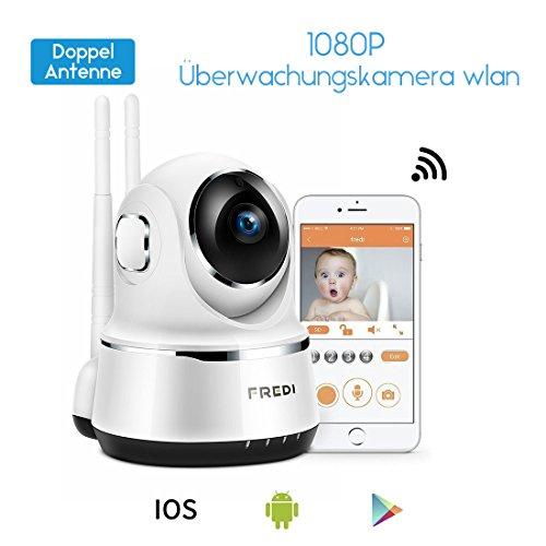 1080P HD WLAN WiFi IP Überwachungskamera Indoor Sicherheitskamera Haustier Kamera IP Cam Kabellos 2 Weg Audio IR Nachtsicht für Baby Überwachung