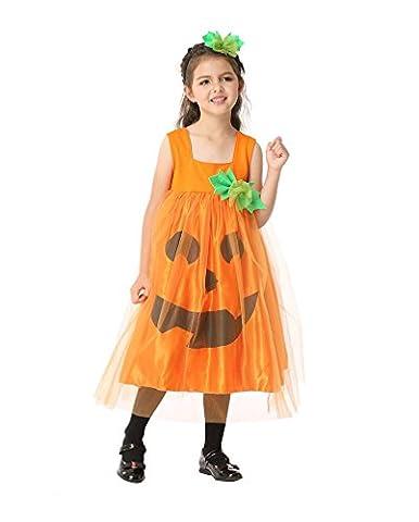 Shanghai Filles Cosplay Costume de Fée Orange Robe de Citrouille Costume de Déguisement