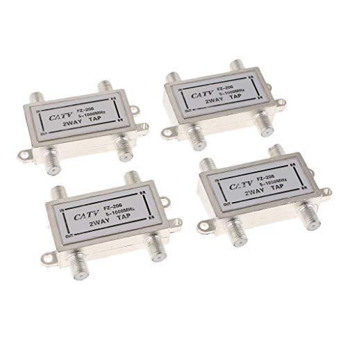 perfk 4pcs Koaxialkabel TV Splitter 3 Wege TV-Antenne Splitter Für Video VCR RF-Antenne -