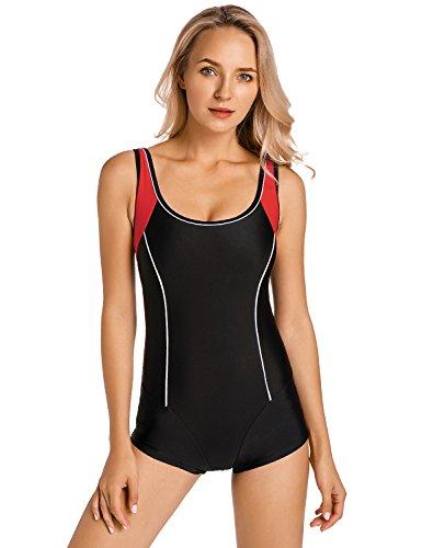 ... Delimira Damen Einteiler Badeanzug - Schlankheit Hotpants Bademode  Schwimmanzug ... d53b668ee8