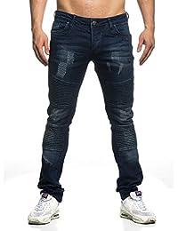 Tazzio Jeans pour homme de style biker 16508Bleu