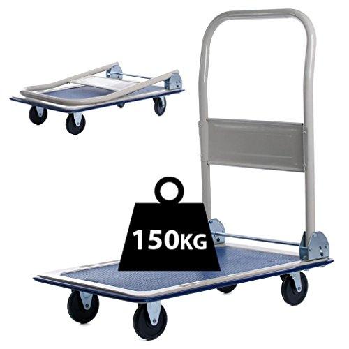 150kg/300kg Heavy Duty Plattform Trolley Sackkarre zusammenklappbar Barrow Kutsche Warenkorb 150KG (Food-styling-tools)